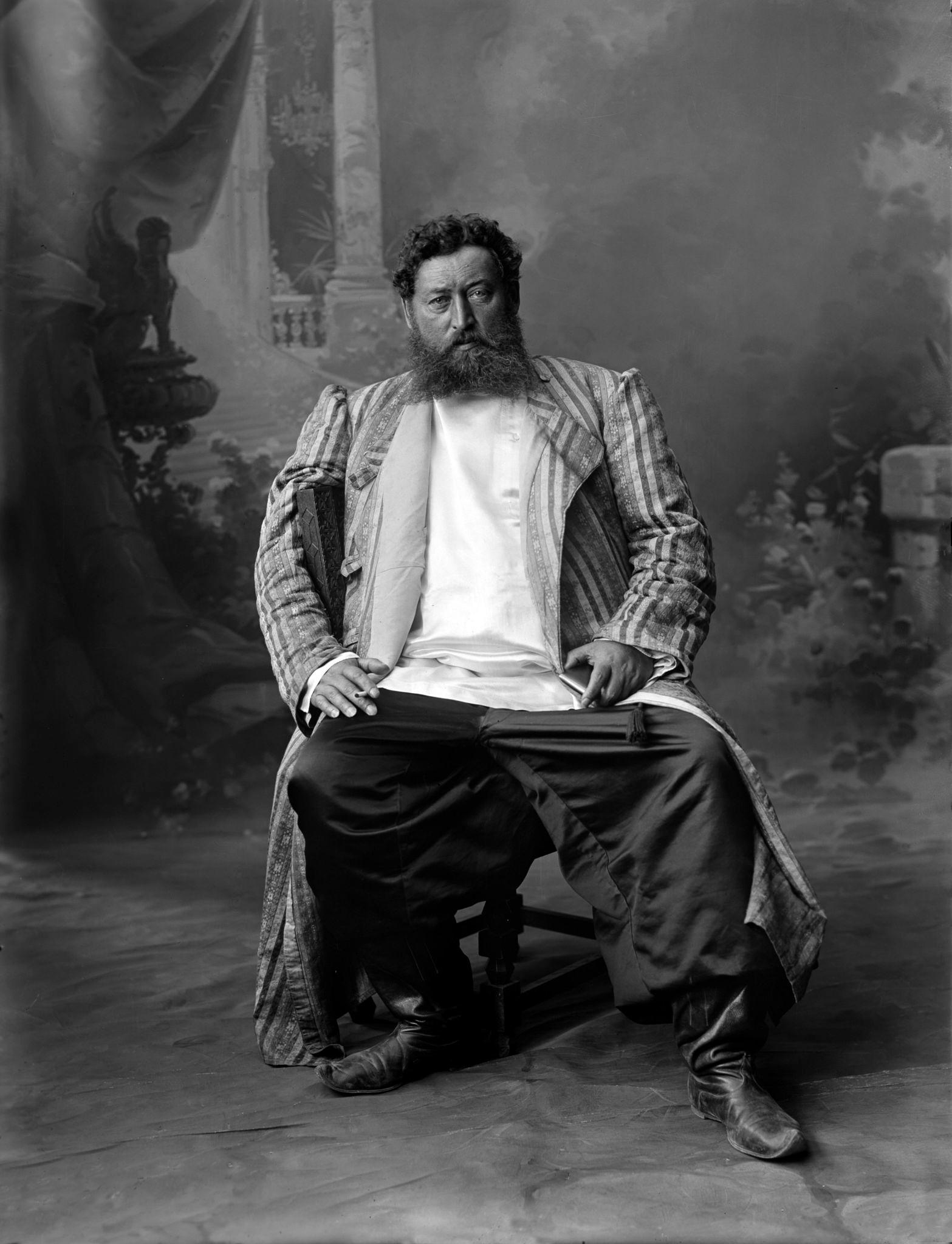 Портрет купца Ознобишина - поставщика железнодорожных шпал