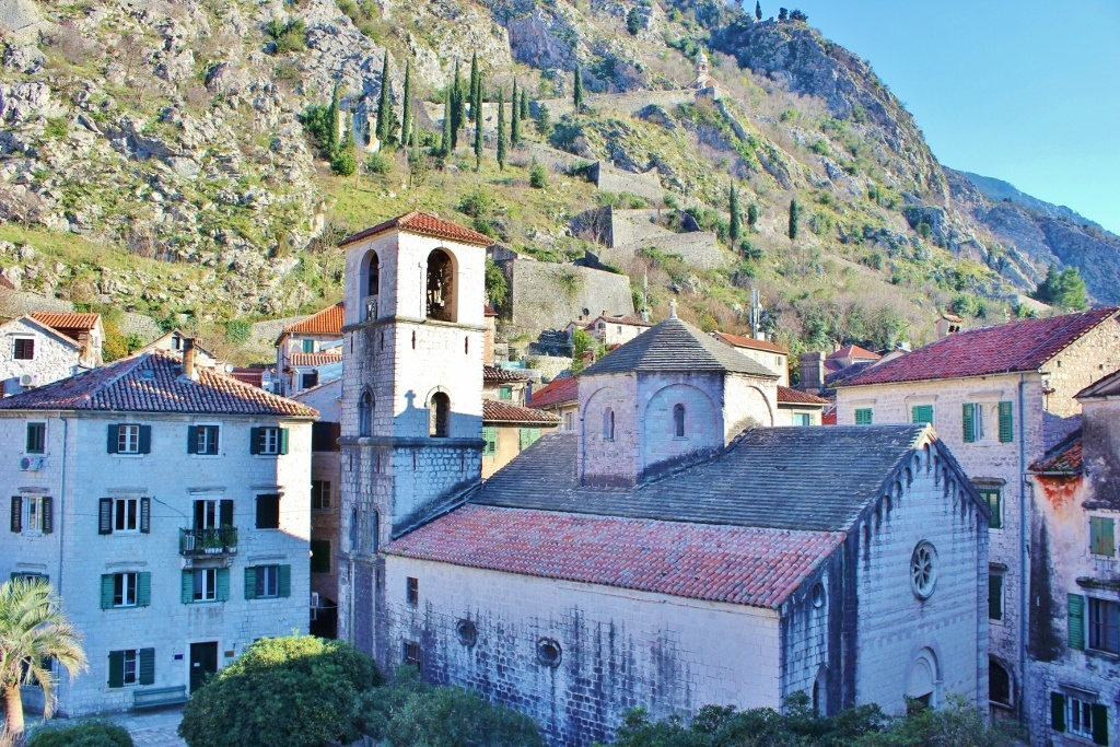 The Church of Saint Mary by the River in Kotor, Montenegro.