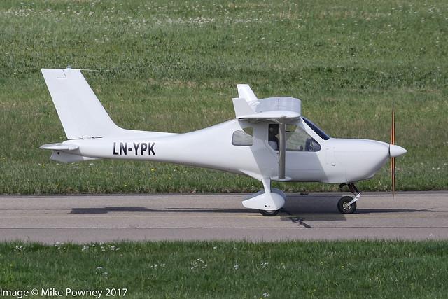 LN-YPK - 2009 build Jabiru J170UL, taxiing for departure at Friedrichshafen during Aero 2017