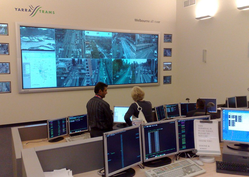 Yarra Trams control room, March 2009