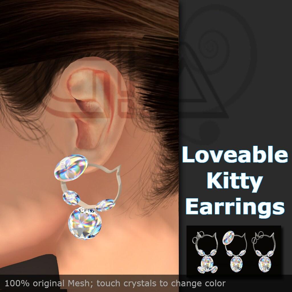 loveable kitty earrings vendor