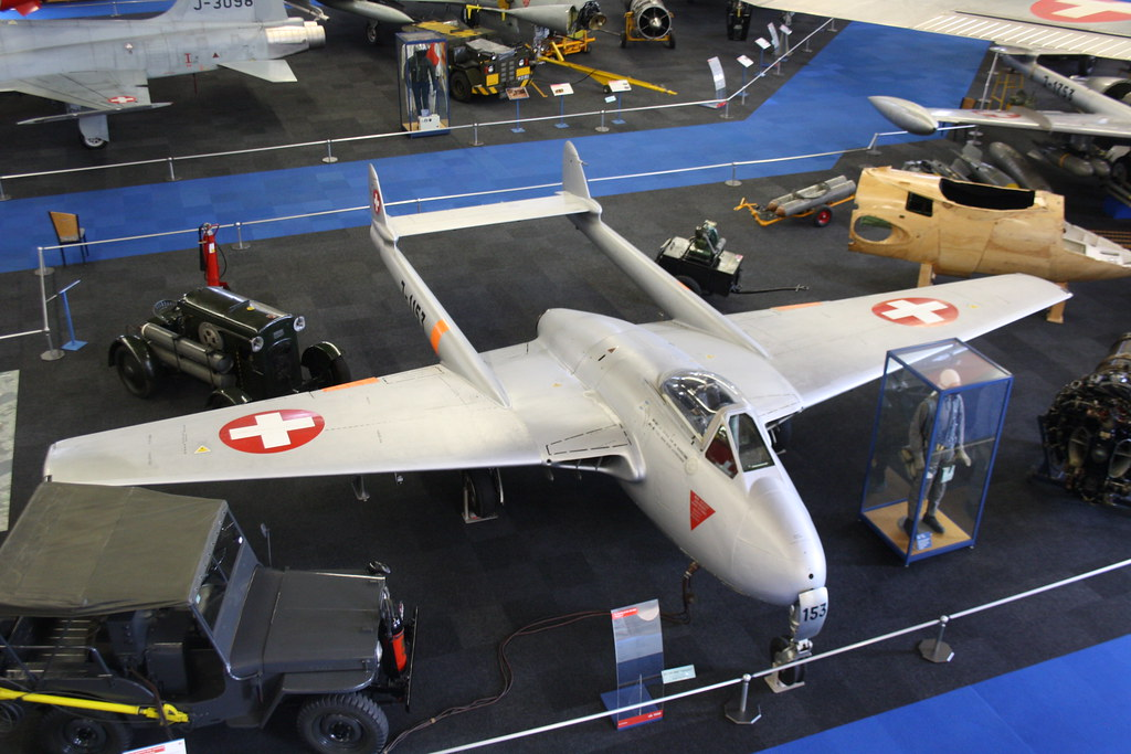 J-1153, de Havilland Vampire FB.6, Flieger Flab Museum, Swiss (662), Dubendorf 3rd April 2018