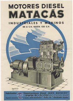 Pubicitat motor diesel Matacas Barcelona