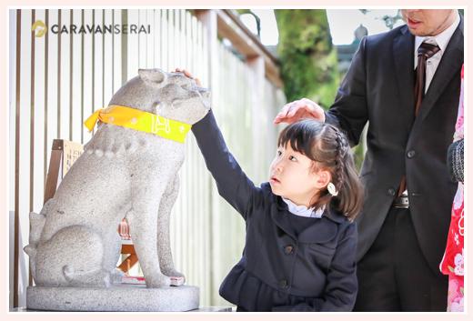 深川神社(愛知県瀬戸市)の撫で狛犬