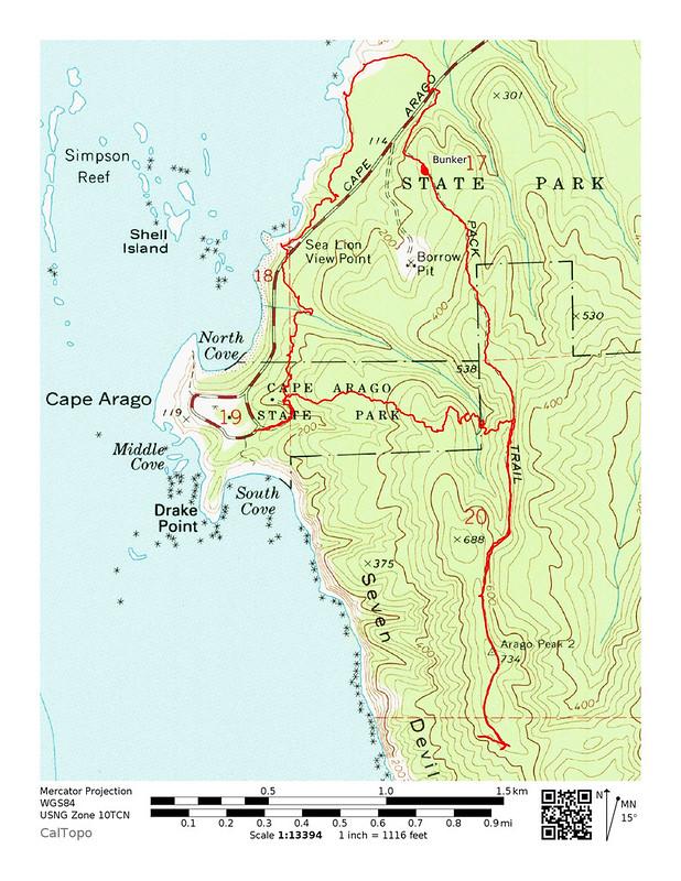Cape Arago Map