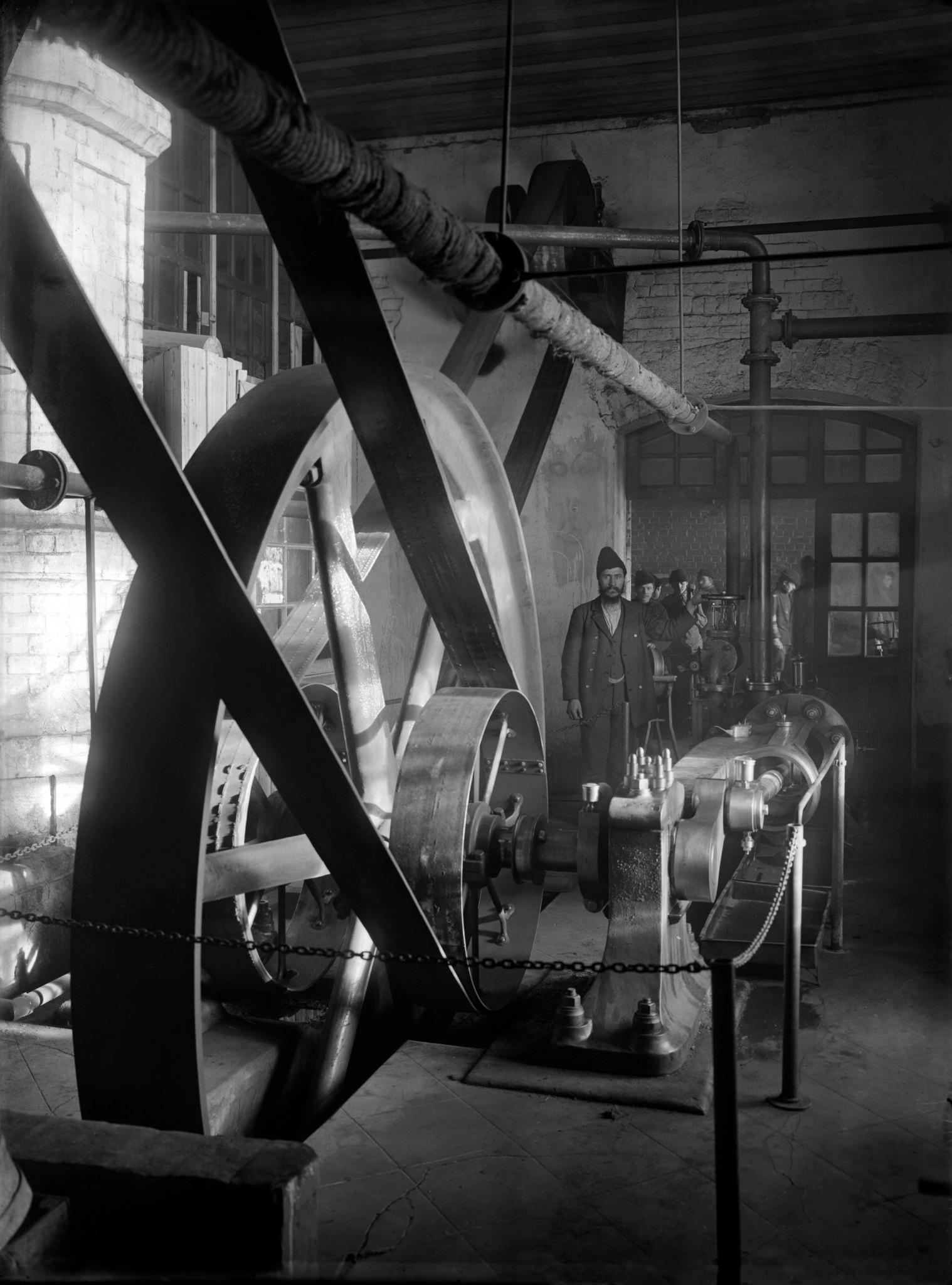 Костеобрабатывающий завод. Машинное отделение. 1890-е
