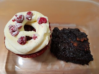 Red Velvet Cupcake and Beetroot Brownie at Cup and Wells
