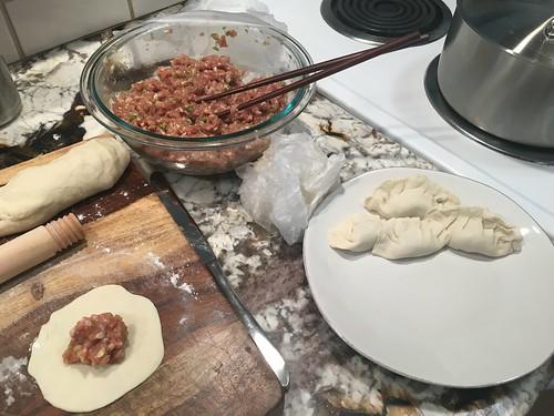 Making dumplings from scratch