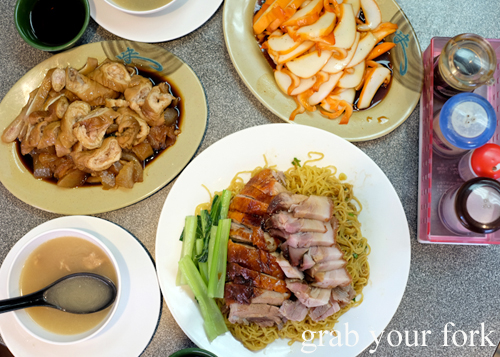 Cheap Chinese barbecue meats at No.  BBQ House in Campsie