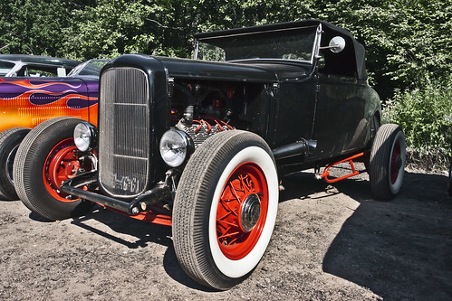 Ford Model A Cabriolet Hot Rod No Fenders 1930 (9671)