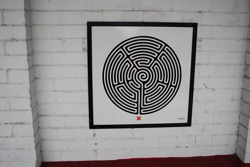 London Underground Labyrinth 42 Kenton close up