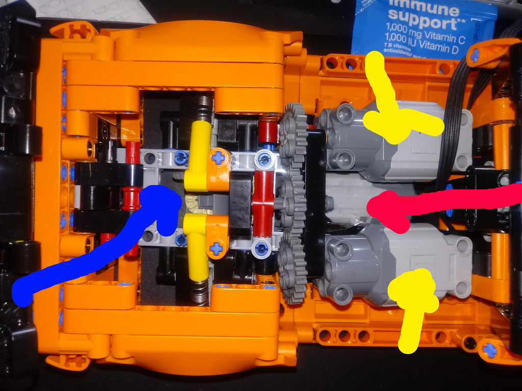 Lego Technic 42093 2 x Lego L motors