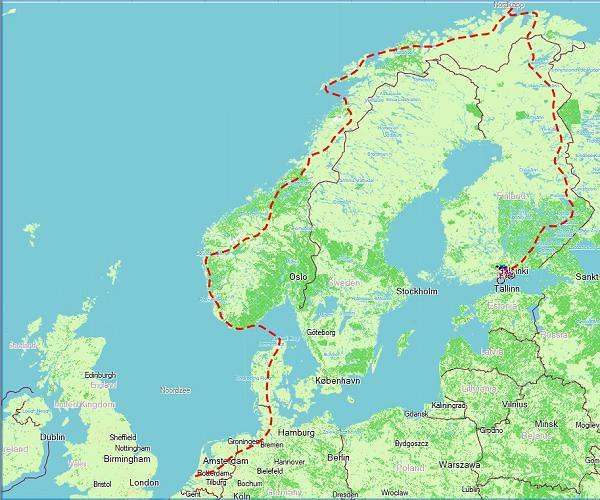 fietsroute Noordkaap