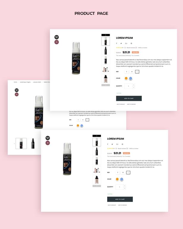 Multiple layout product page for Food Prestashop theme-Leotheme