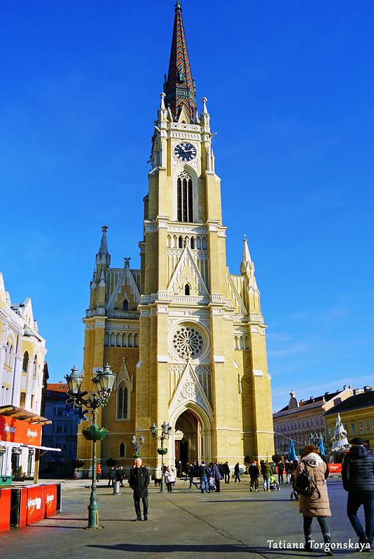 Вид на церковь Девы Мари в Новом Саде