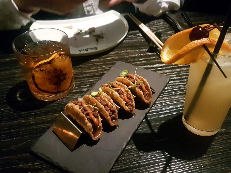 Akira Back wagyu tacos