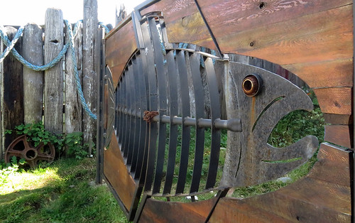 A fish gate in Ucluelet on Vancouver Island, Canada