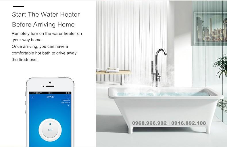 Bật nước nóng tự động