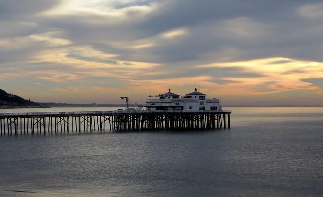 malibu pier on monday