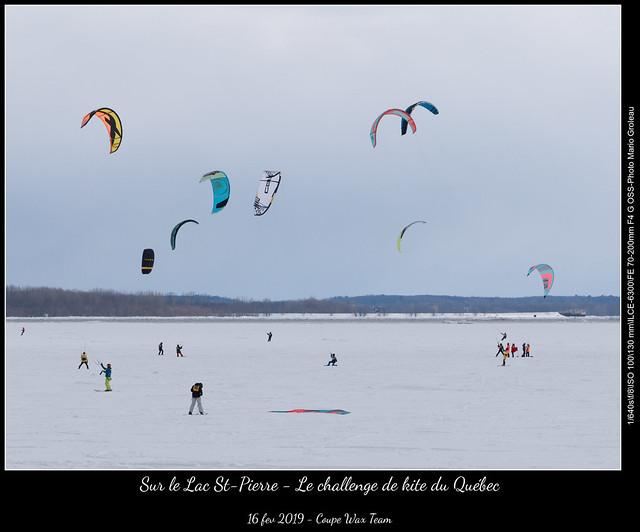 Sur le Lac St-Pierre - Le challenge de kite du Québec