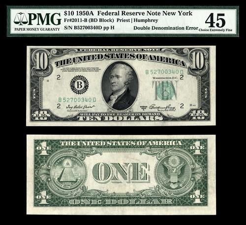 Eleven dollar bill error