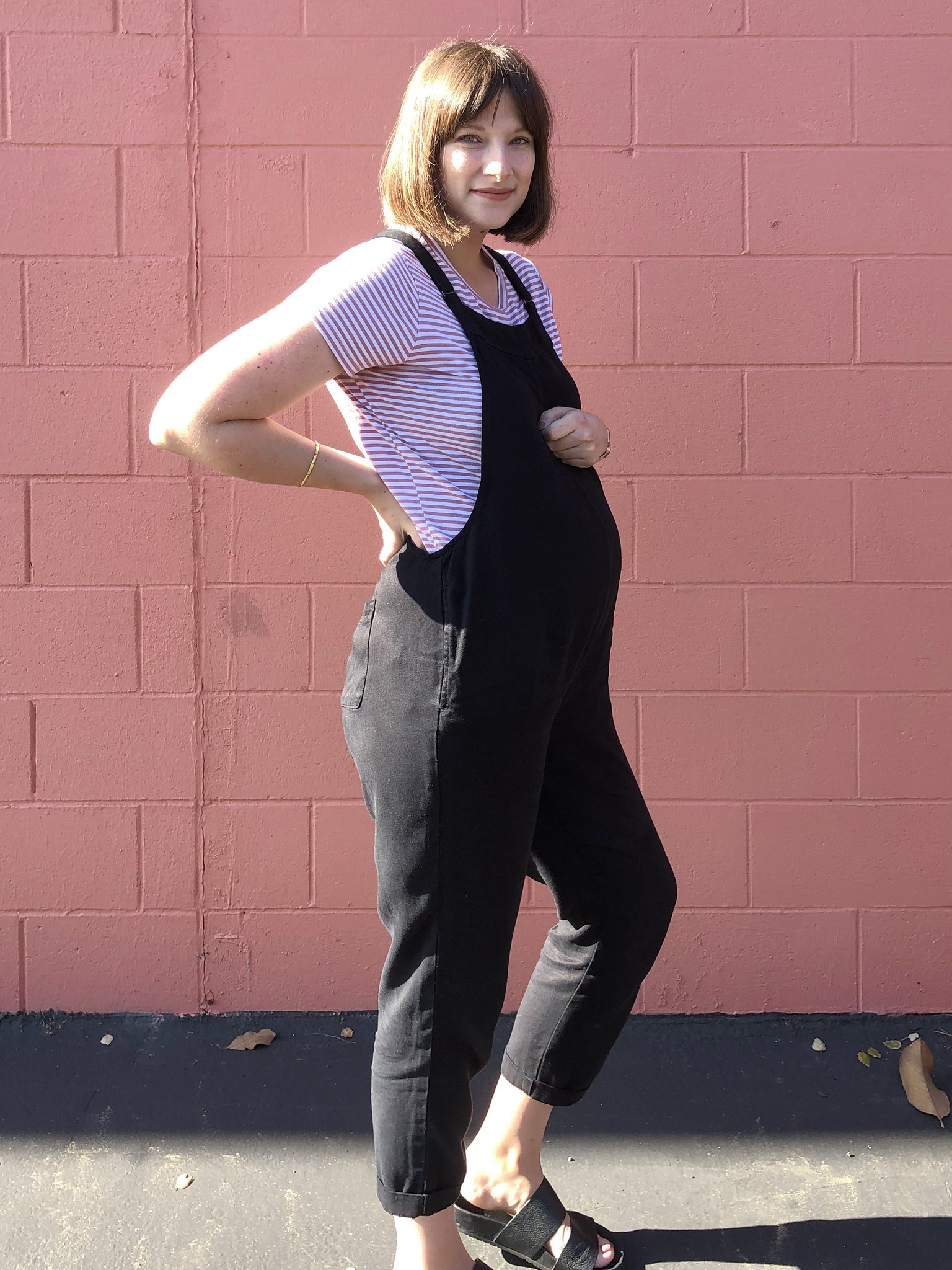 Toddler girl, toddler girl fashion, Maternity fashion, Pregnancy style, maternity dungarees, Mom blog, Pregnancy blog, Mommy blogger, mom life, Candid motherhood, Girl mom, Fashion blogger, Bay Area blogger,