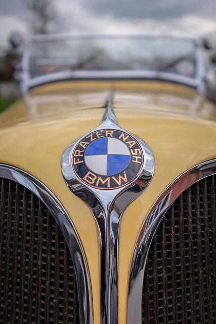 Frazer Nash BMW 328 mustart front