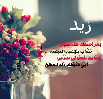 شعر اسم زيد 2019 , ابيات شعر باسم زيد , كلمات حب لاسم زيد