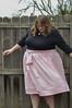 Pink silk Cleo skirt
