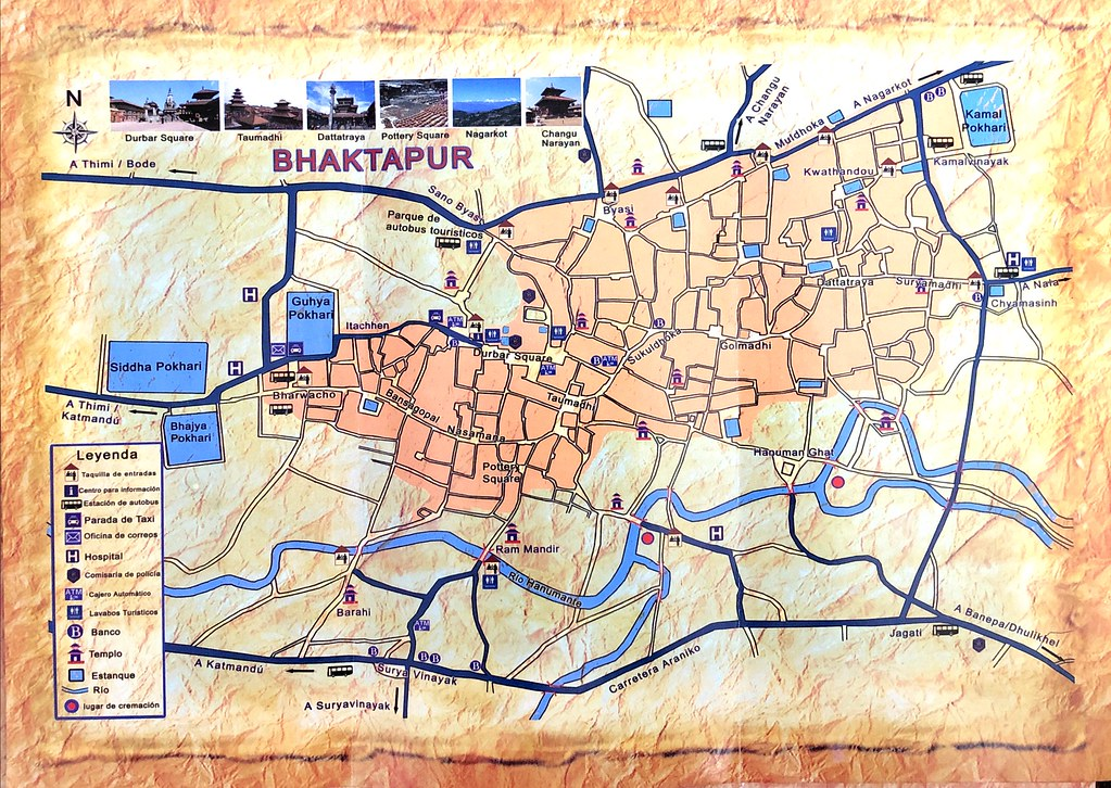 Mapa de Bhaktapur