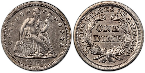 SS Central America Recovered 1850 dime