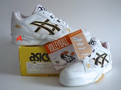 UNWORN VINTAGE ASICS PACIFIC VOLLEY LO VOLLEYBALL SPORT SHOES
