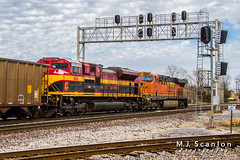KCS 4168 | EMD SD70ACe | BNSF Thayer South Subdivision