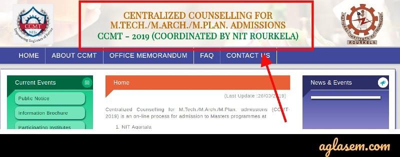 CCMT 2019 - Seat Allotment, Participating Institutes, Admission Process