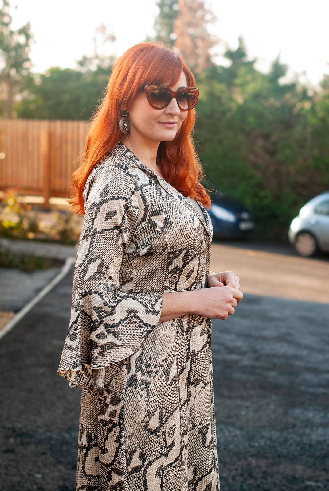 What I Wore For Christmas Snakeskin Maxi Dress Not