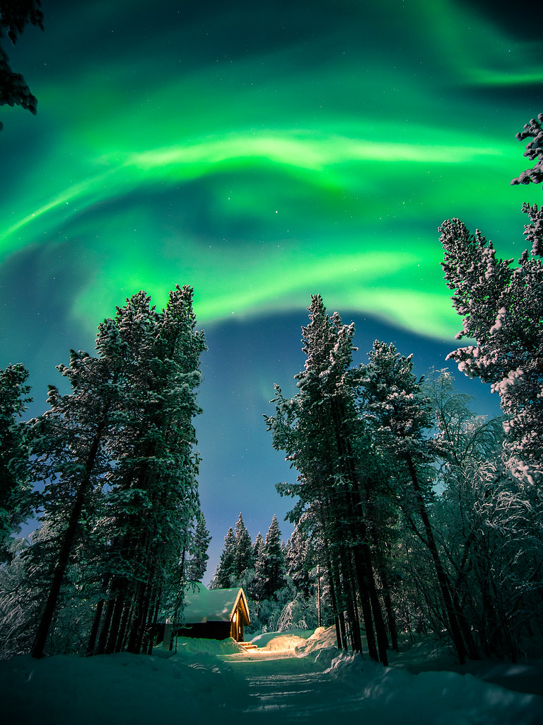 The Northern Lights, Ivalo, Lapland picture