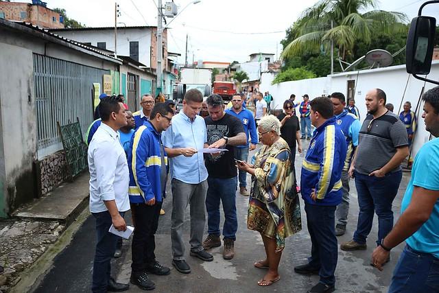 09.02.19 Vice Prefeito Marcos Rotta visita obras na comunidade Mundo Novo, bairro Cidade Nova