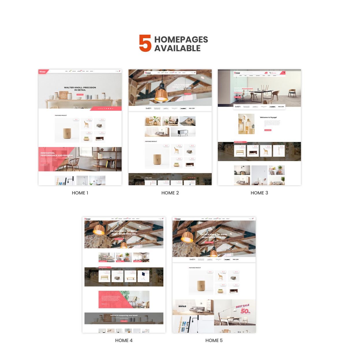 multi homepage - Bos Voyage - Furniture and Home Decor Prestashop Theme
