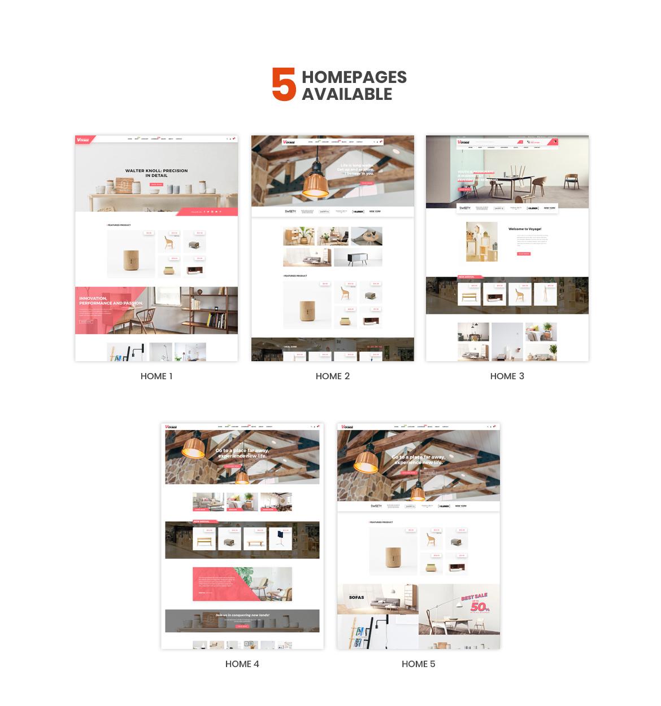 multi homepage - Bos Voyage - Furniture and Home Decor Prestashop Theme