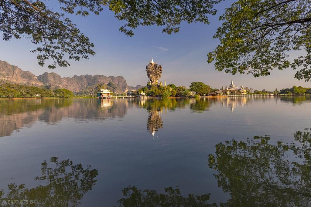 Symmetrie at the Lake - Kyaut Ka Latt Pagoda