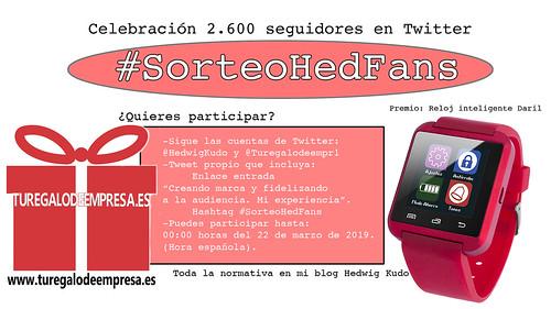 Celebrando los 2.600 Twitteros #SorteoHedFans