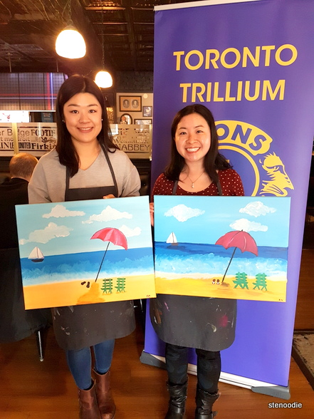 Paint Nite in support of the Toronto Trilliums Lions Club