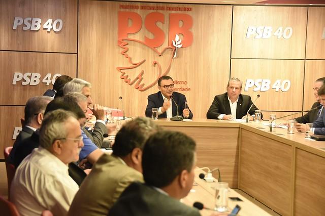 Reunião com a bancada do PSB na Câmara sobre bloco de oposição - 31/1/2019