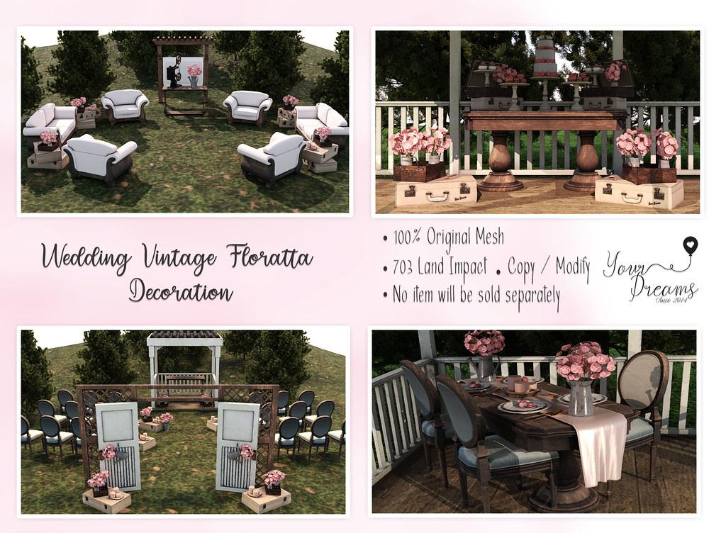 {YD} Wedding Vintage Floratta