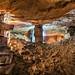 Piliers à bras dans une ancienne carrière de calcaire by EneKa Underground Colors
