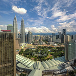 Kuala Lumpur Skyline With Blue Sky and Cloud Formation