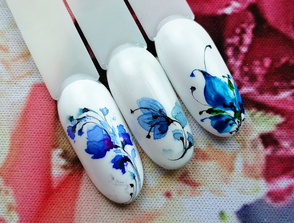 how to paint watercolor nails