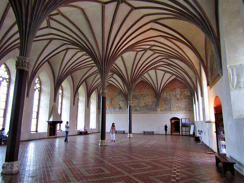 Castle hall in Malbork Castle in Poland