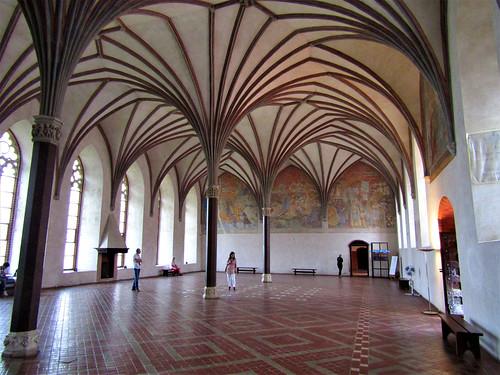 Castle hall in Malbork Castle in Poland
