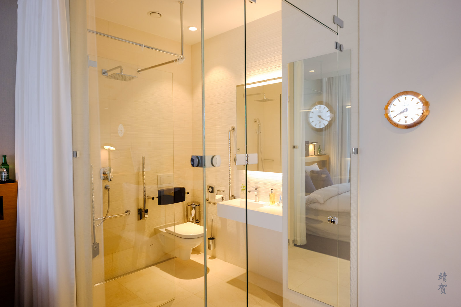 Open shower area